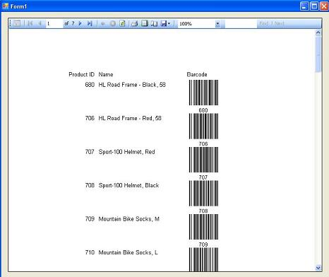 Generate and print Barcodes in RDLC Report files in  NET